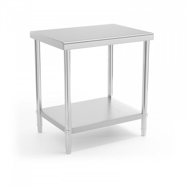 Stainless Steel Work Table - 80 x 60 cm - 190 kg load capacity