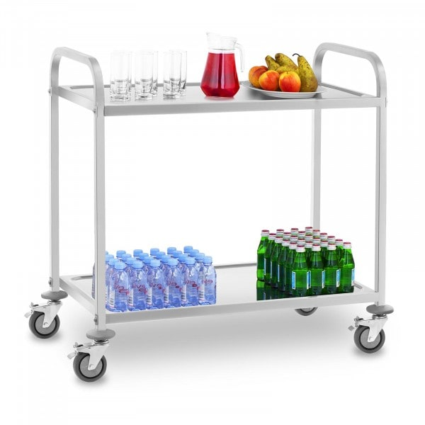 Serving Trolley - 2 Troughs - Up to 160 kg - 2 Brakes