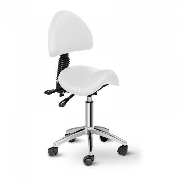 Saddle Chair with Back Support PHYSA BERLIN WHITE