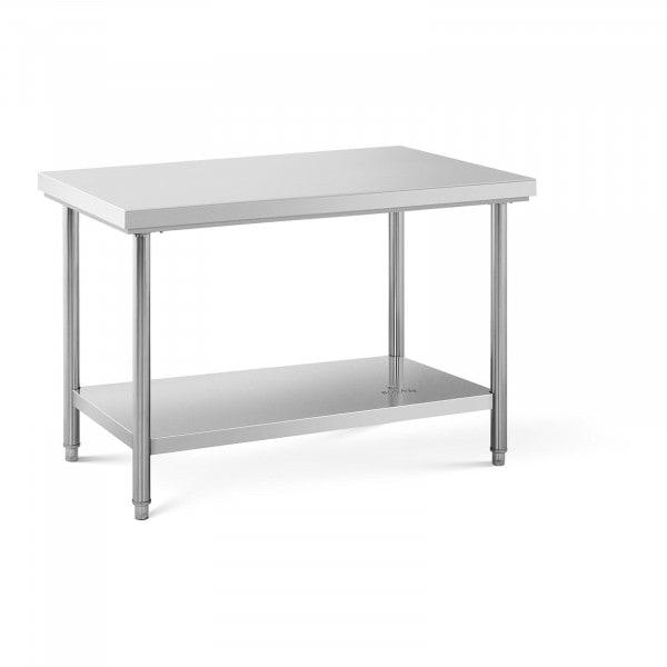 Stainless Steel Work Table - 120 x 70 cm - 143 kg capacity