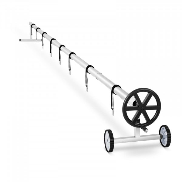 Pool retractor - 3.0 to 5.7 m - Mobile - Stainless steel - Incl. 8 straps