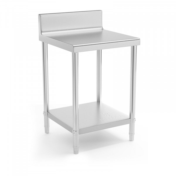 Stainless Steel Work Table - 60 x 60 cm - upstand - 150 kg load capacity