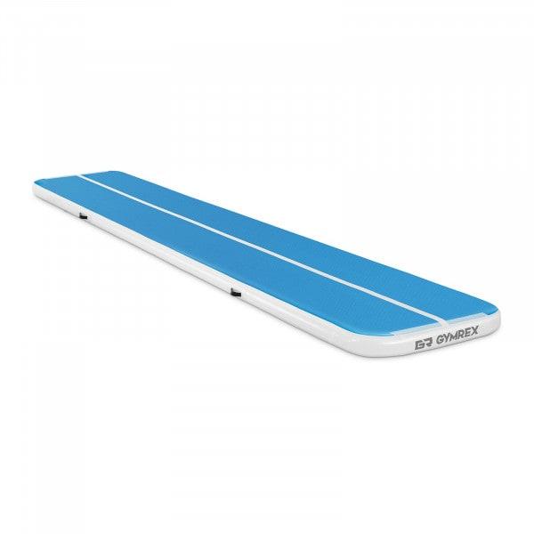 Inflatable Gym Mat - 600 x 100 x 10 cm - 210 kg - blue/white