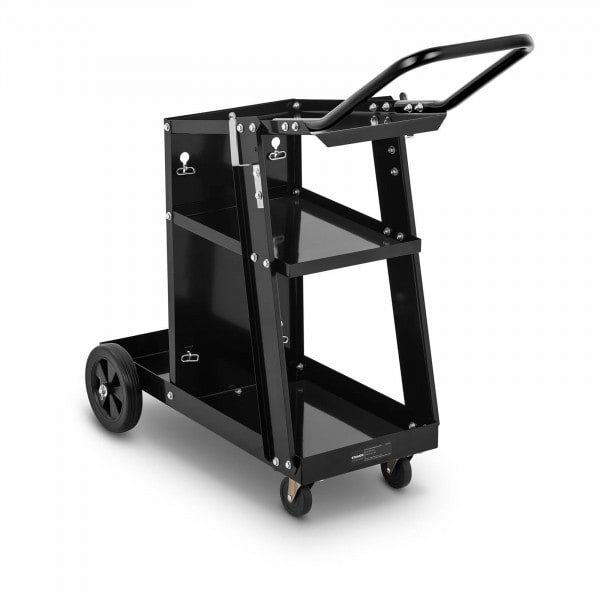 Welding Cart with Handle - 3 shelves - 80 kg