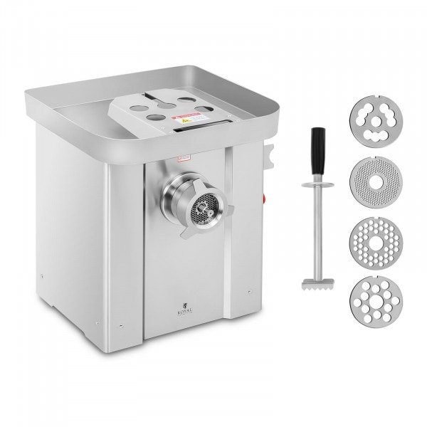 Meat Grinder - stainless steel - 800 kg/hr - with reverse gear