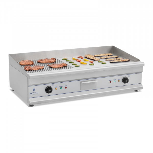 Electric Griddle - 100 cm - ribbed/smooth - 2 x 3200 W