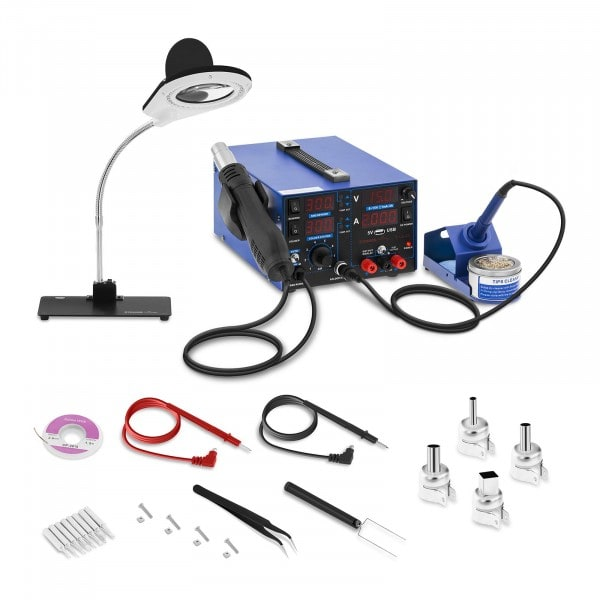 Soldering Station - 800 W - 4 LED - with Lamp