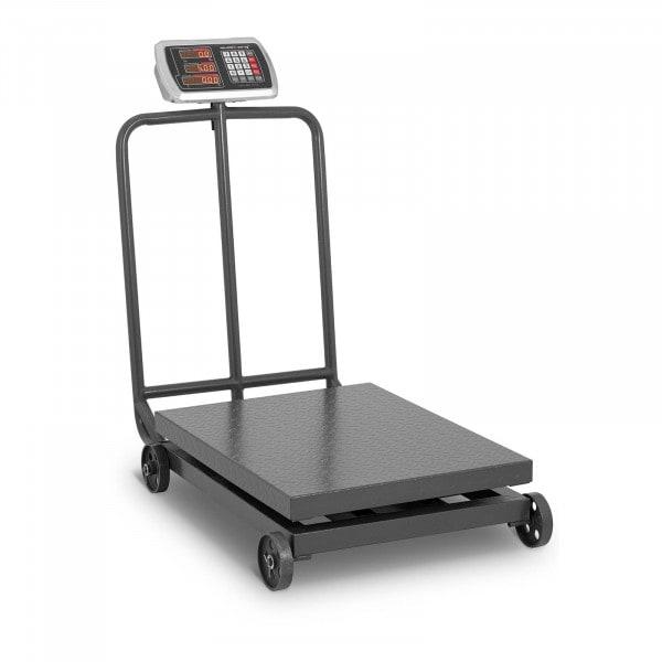 Platform Scale - 600 kg / 100 g - rollable - LED display