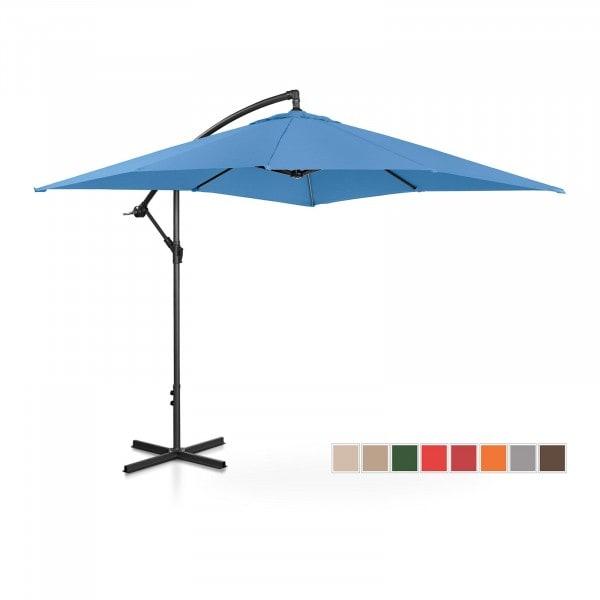 Hanging Parasol - blue - square - 250 x 250 cm - tiltable