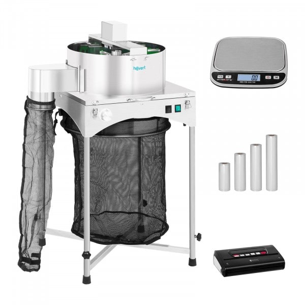 Electrical Harvesting Machine Set - Ø 39 cm - Vacuum Device with Bag - Table Scale