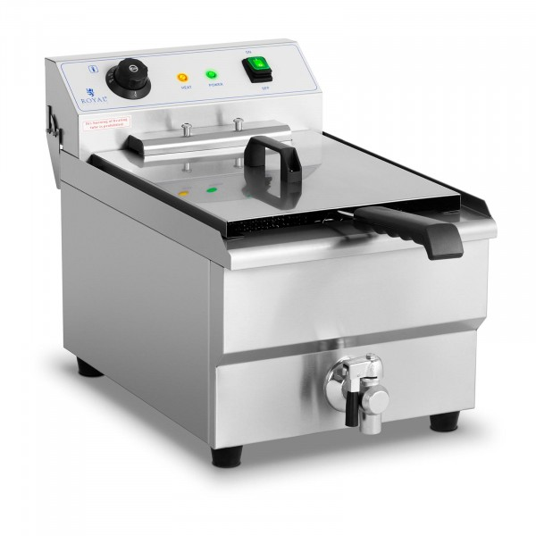 Commercial Fryer - 16 litres - 6,000 W - drain tap - cold zone