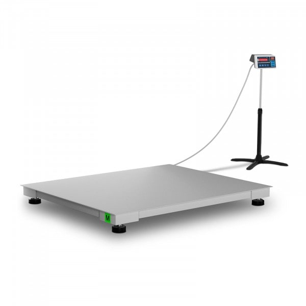 Floor Scale - trade-approved - 1,500 kg / 500 g - 100 x 120 cm - LED
