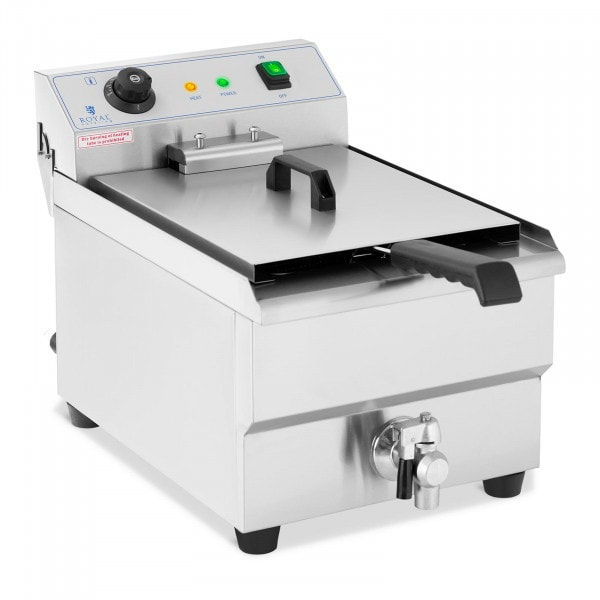 Electric Deep Fryer - 16 L - Drain tap - 230 V