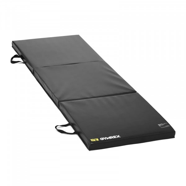 Factory second Gymnastic Mat - 180 x 60 x 5 cm - folding - black