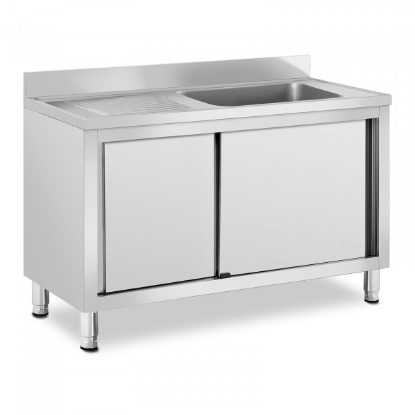 Commercial Kitchen Sink - 1 basin - Royal Catering - Stainless steel - 500 x 400 x 260 mm
