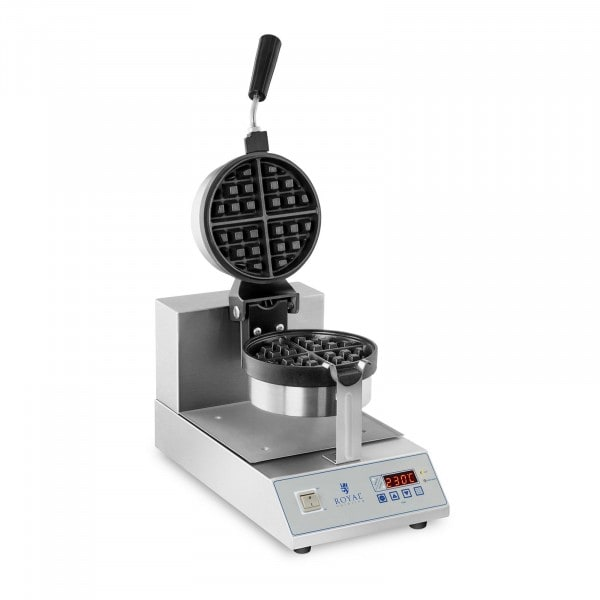 Waffle Maker with LED - Rotatable - 1300 W - Round