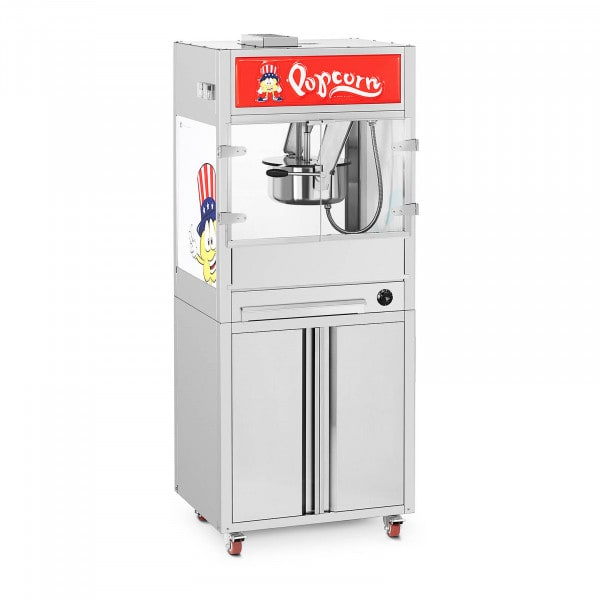 Popcorn Machine - with base cabinet on wheels - Royal Catering - medium