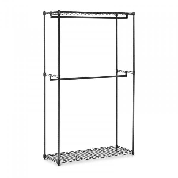 Metal Clothing Rack - 120 x 45 x 199.5 cm - 200 kg - black
