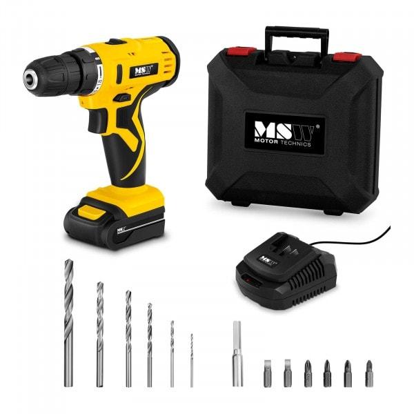 Cordless Drill Screwdriver Set - 1,500 r/min - 30 Nm