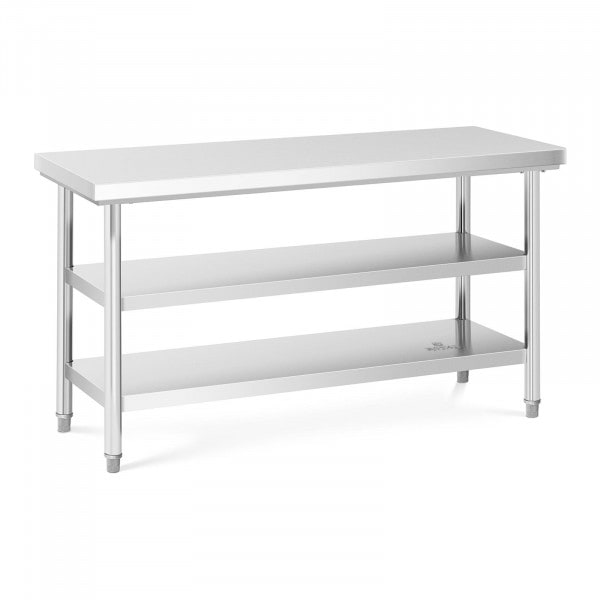 Stainless Steel Work Table - 150 x 60 cm - 600 kg - 3 levels