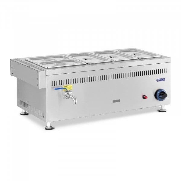Gas Bain-Marie - 3300 W - GN pans 3x1/3+2x1/4 - 0.03 bar - G30