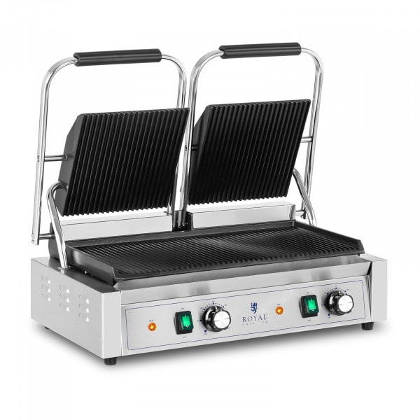 Double Contact Grill - 3,600 W - ribbed