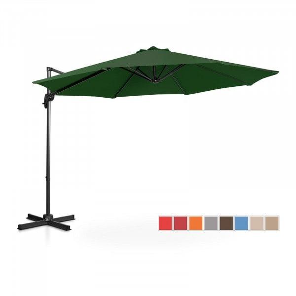 Hanging Parasol - green - round - Ø 300 cm - rotatable