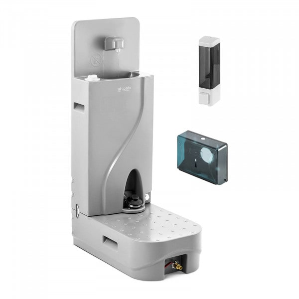 Mobile Washbasin - 65 L - with soap dispenser and paper holder