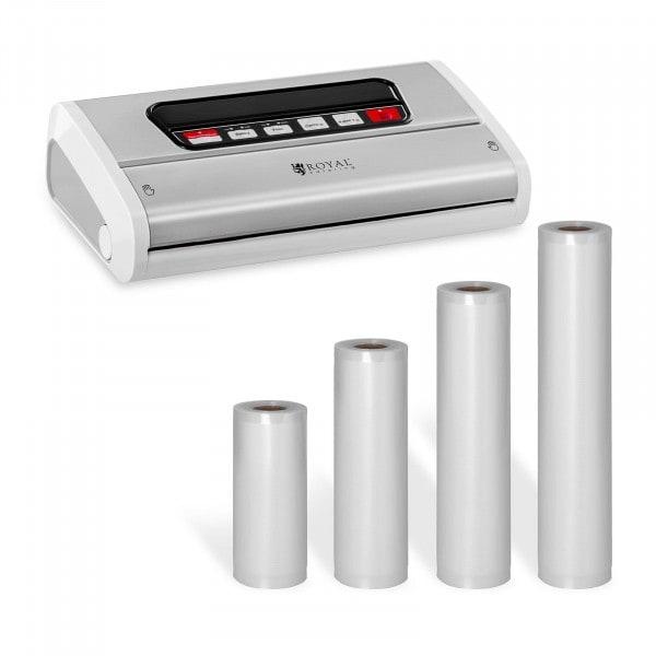 Food Vacuum Sealer Set with 4 Vacuum Bags - 15 to 30 cm - Stainless Steel/ABS - 32 cm
