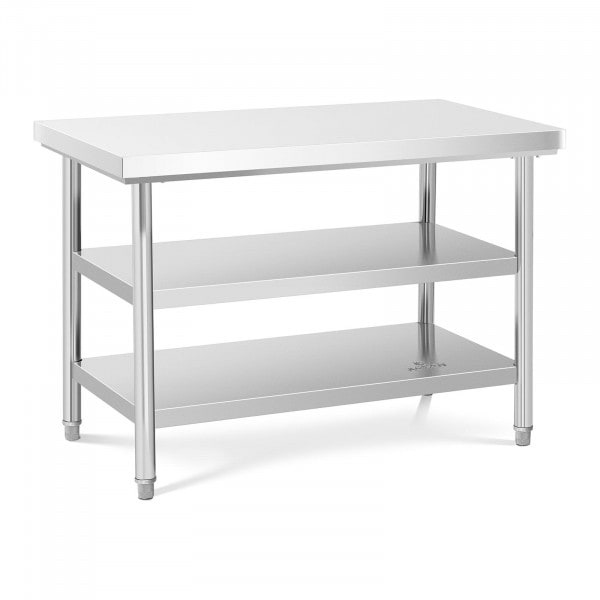 Stainless Steel Work Table - 120 x 70 cm - 600 kg - 3 levels