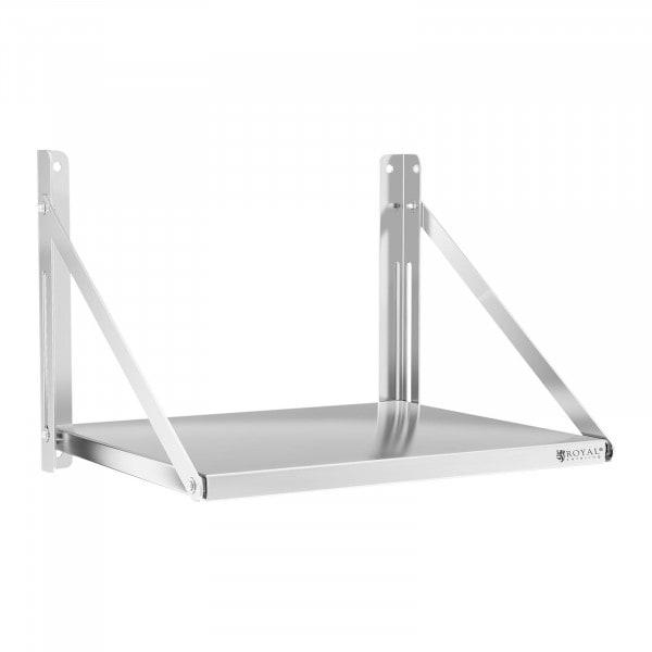Factory second Wall Shelf - folding - 60 x 45 cm - 40 kg - stainless steel
