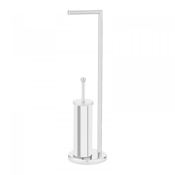 Stainless Steel Toilet Roll Holder - with toilet brush and holder