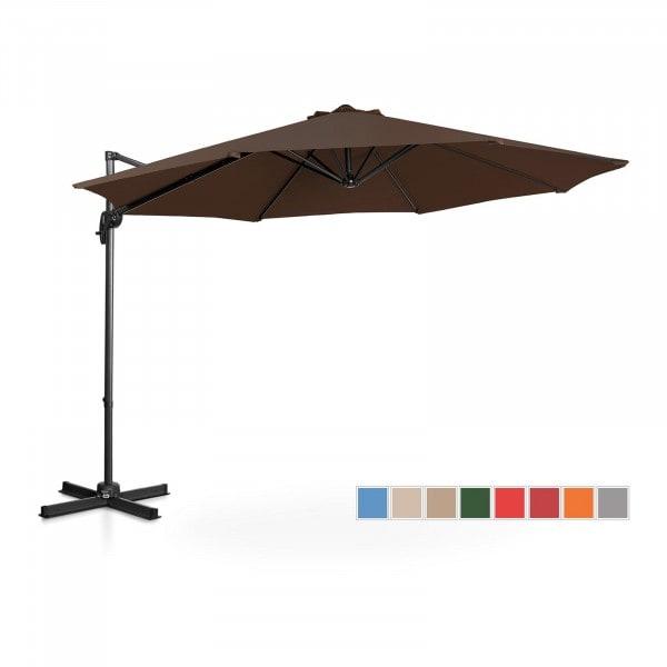 Hanging Parasol - brown - round - Ø 300 cm - rotatable