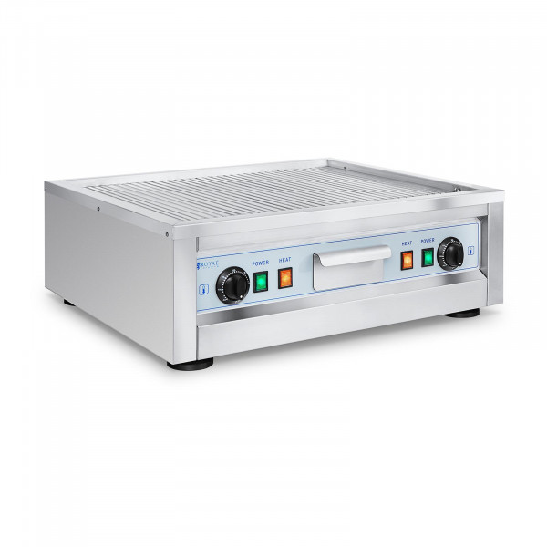 Double Electric Griddle - 59 cm - Royal Catering - smooth - 2 x 1,600 W