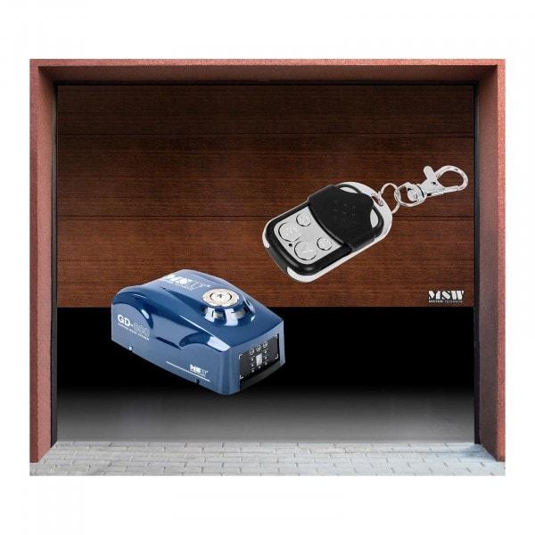 Sectional Door Set with Motor - 2,375 x 2,125 mm - black walnut - 800 N