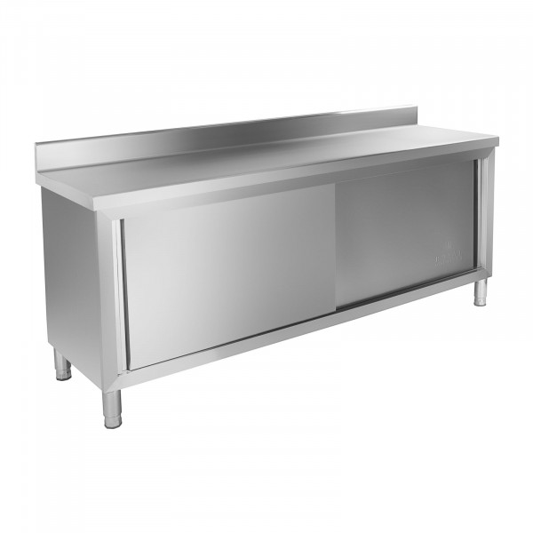 B-WARE Work cupboard - 200 x 60 cm - Upstand