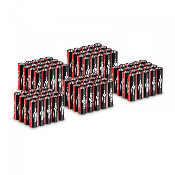 100 x Mignon AA LR6 Batteries - Ansmann INDUSTRIAL Alkaline Batteries - 1.5 V
