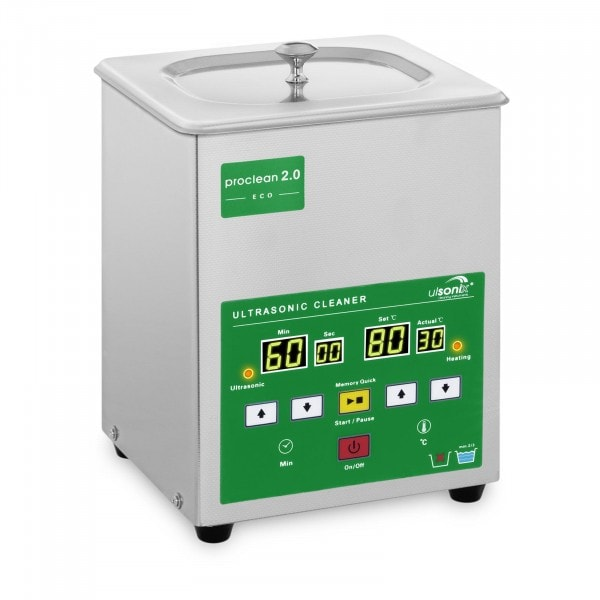 Ultrasonic Cleaner - 2 litres - 60 W - Memory-Quick Eco