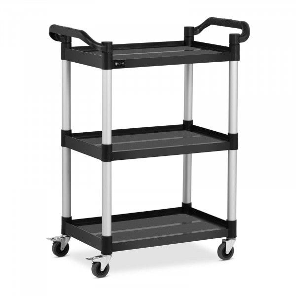 Service Cart - 3 shelves - 63 x 40 cm - 90 kg - black