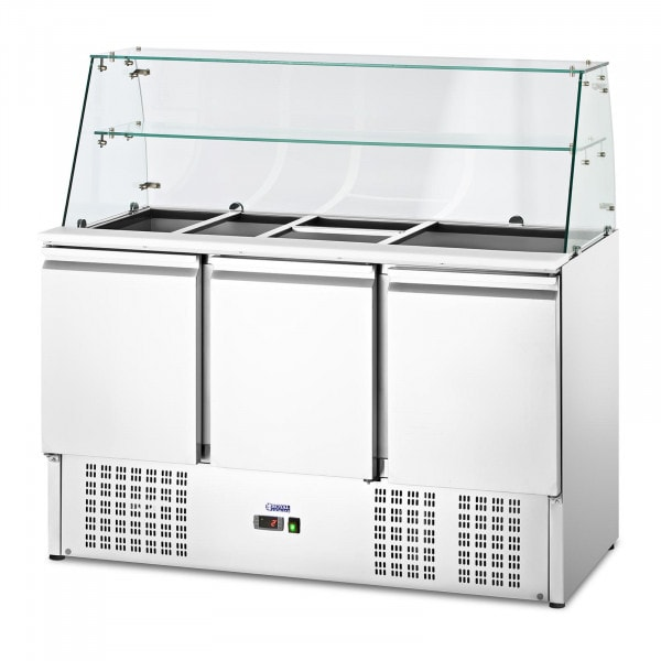 Salad Bar - with glass top - Royal Catering - 368 L - for 8 GN containers - 136.5 x 70 cm