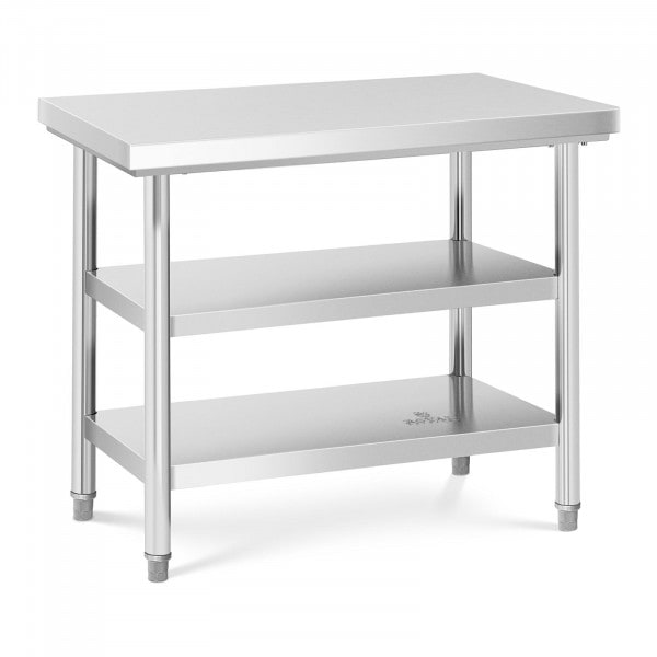 Stainless Steel Work Table - 100 x 70 cm - 600kg - 3 levels