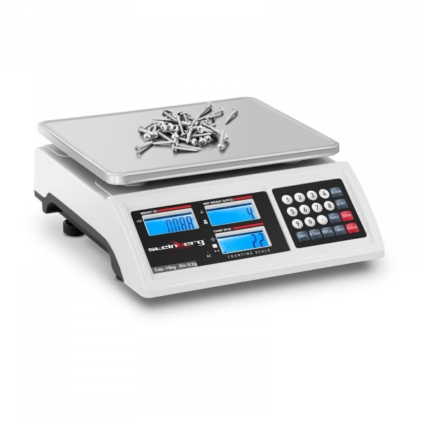 Factory second Counting Scale - 15 kg / 0.2 g - battery 80 hrs