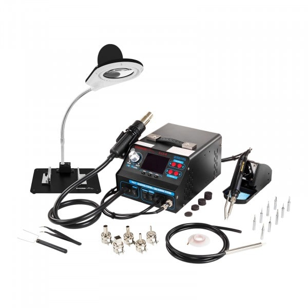 Factory seconds Set Soldering Station with Tin Roller Clamp and Soldering Smoke Vent + Accessoires