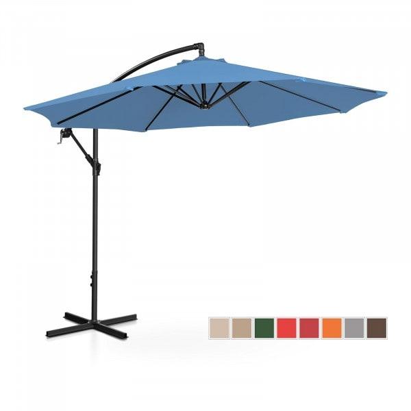 Hanging Parasol - blue - round - Ø 300 cm - tiltable