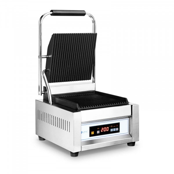 Contact Grill - 1,800 W - Royal Catering - ribbed