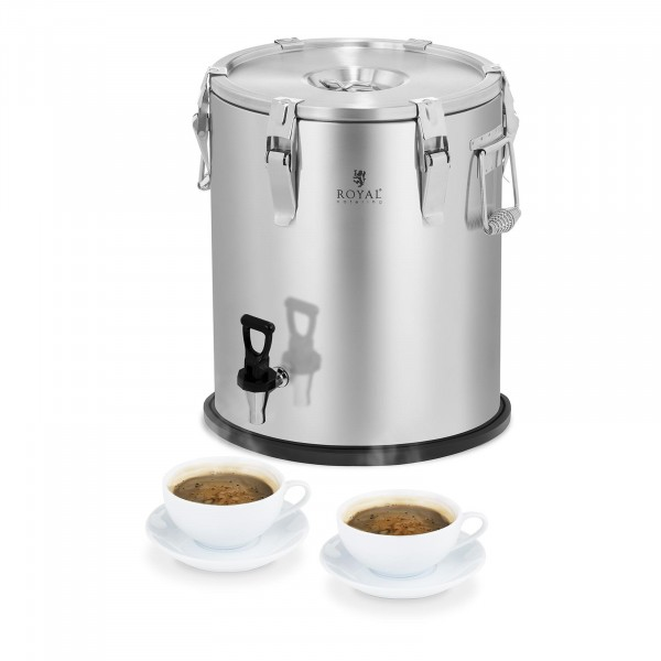Isothermal Container - Stainless Steel - 25 L - with Drain Tap