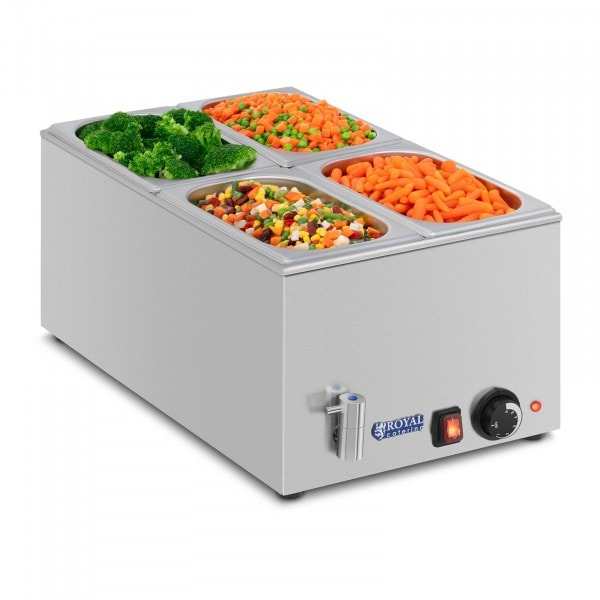 Bain-marie - GN container - 1/4 - drain tap
