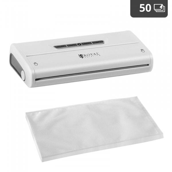 Food Vacuum Sealer Set with 50 Vacuum Bags 28 x 40 cm - 28 cm - ABS