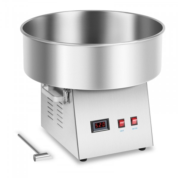 Candy Floss Machine - 52 cm - stainless steel - vibration absorption
