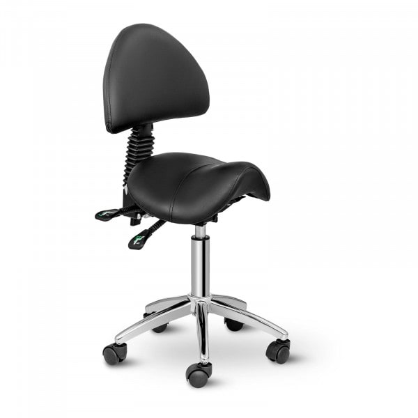 Saddle Chair with Back Support PHYSA BERLIN BLACK